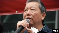 行動召集人李卓人表示,沒有考慮絕食引起多少社會迴響。 (美國之音 湯惠芸拍攝)