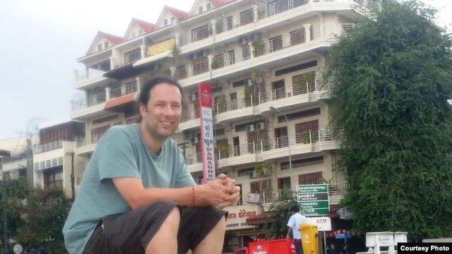 Divon Lan, product manager of Google's Next Wave Emerging Markets program, in Phnom Penh, Cambodia. (Courtesy of Divon Lan)