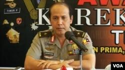 Kepala Biro Penerangan Masyarakat POLRI, Brigadir Jenderal Boy Rafli Amar memberikan penjelasan dalam konferensi pers.