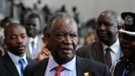 Zambia's President Michael Sata speaks to journalists at the 18th African Union summit in Ethiopia's capital, Addis Ababa in this Jan. 2012 file photo.