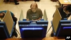 5일 위스콘신 주 밀워키 시의 투표소.