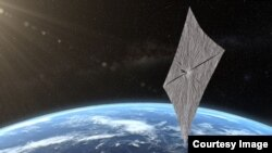 This artist's concept of portrays LightSail 2 above Earth. (Josh Spradling/The Planetary Society)