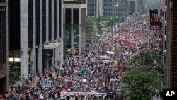 2014年9月21日纽约第六大道示威制止气候变暖