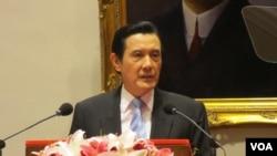 台湾总统马英九 (美国之音张永泰拍摄)