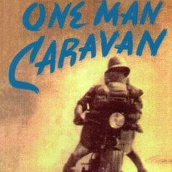"Detail from the book cover of ""One Man Caravan."""