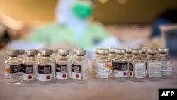 The Sinovac Covid-19 coronavirus vaccine (Photo by JUNI KRI