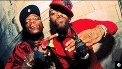 M-1, left, and stic.man are the hip-hop group Dead Prez