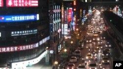 夜色中的台北街头