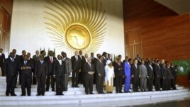 Heads of African States pose for a group picture in Addis Ababa, Ethiopia, Jan, 27, 2013