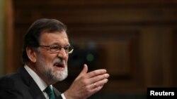 Le Premier ministre espagnol Mariano Rajoy au Parlement à Madrid, en Espagne, le 31 mai 2018. REUTERS / Sergio Perez