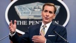 Jubir Pentagon, John Kirby memberikan keterangan pers mengenai situasi terakhir di Afghanistan, Kamis (12/8). AS telah mendesak warganya agar segera meninggalkan Afghanistan.