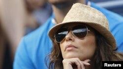 Eva Longoria terminó su relación en junio de este año, con Eduardo Cruz. En esta foto, disfrutaba de un juego de Tenis en el U.S. Open.