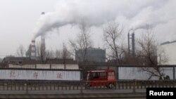 중국 산둥성 린이의 철강 공장. 산둥성은 중국 내 북한산 무연탄 수입 1위 지역으로, 수입한 무연탄은 철강 공장 등에서 주로 소비하는 것으로 알려졌다.