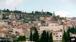 Kota Nazareth di Israel yang sering dikunjungi oleh para peziarah Nasrani (foto: ilustrasi).