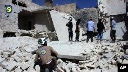 Istočni kvartovi Alepa posle bombardovanja sirijskih vladinih i ruskih snaga