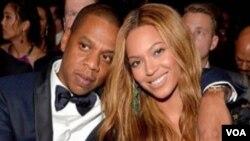 Le couple Jay-Z et Beyoncé (VOA)