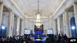 Vista general de la Asamblea General 48 de la OEA, en la sede de la organización, en Washington, el 5 de junio de 2018.