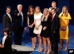 Дональд Трамп разом із родиною після теледебатів кандидатів у президенти США, 26 вересня 2016.