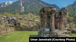 پاکستانی کشمیر میں واقع قدیم مندر شاردا کی باقیات۔ فائل فوٹو
