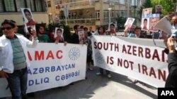 İranın Ankaradakı səfirliyi qarşısında Güney Azərbaycan aksiası