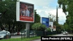Predizborni bilbordi u Crnoj Gori