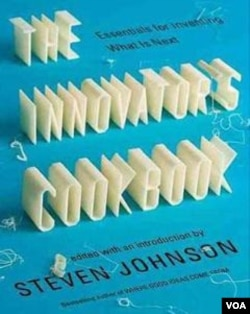 "Halaman sampul buku ""The Innovator's Cookbook"" karangan Steven Johnson."
