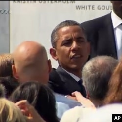 奧巴馬總統9月11日在賓夕法尼亞州參加悼念儀式