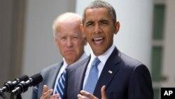 2013年8月31日美国总统奥巴马在华盛顿白宫玫瑰园谈叙利亚危机(资料照片)