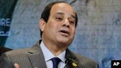 FILE - Egyptian President Abdel-Fattah el-Sissi