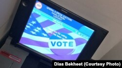 An electronic voting machine is seen in Fairfax, Virginia, Niv. 7, 2017. (Photo: Diaa Bekheet)