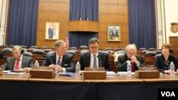 美中經濟安全審議委員會向國會提交年度報告。 (美國之音楊晨拍攝)
