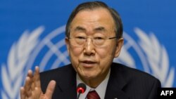 반기문 유엔 사무총장이 3일 제네바에서 열린 유엔 인권이사회에 참석했다.