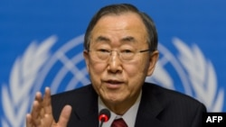 FILE - U.N. Secretary General Ban Ki-moon.