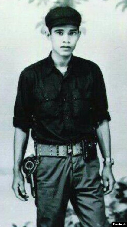 Portrait of Hun Sen during his time with the Khmer Rouge