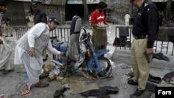 Hiện trường sau vụ tấn công ở thành phố Quetta, Pakistan.