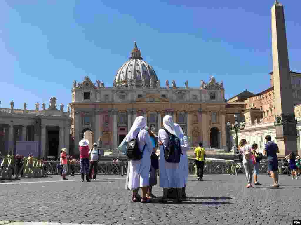La Madre Teresa de Calcuta fundó su congregación en 1950. [Foto: Celia Mendoza, VOA].