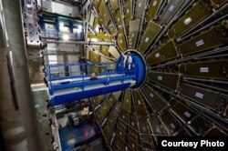 A $5.5 billion atom smasher, called the Large Hadron Collider, is housed at the CERN particle physics lab in Geneva, Switzerland. (Maximilien Brice and Claudia Marcelloni/CERN)