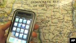 """U.S. protesters want to make sure their smart phones use """"conflict-free"""" minerals"""