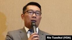 Gubernur Jawa Barat Ridwan Kamil. (VOA/Rio Tuasikal)
