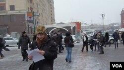俄羅斯民意發生轉變,莫斯科市中心。