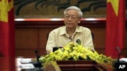 응웬 푸 쫑 베트남 공산당 서기장. (자료사진)