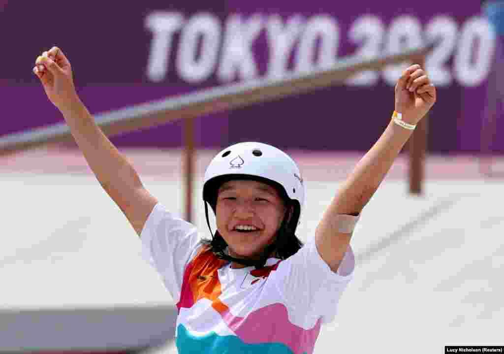 Jogos Olímpicos 2020 - Skate - Momiji Nishiya do Japão conquista ouro
