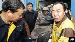 지난해 11월 중국 헤난성 탄광촌의 폭발 사고 현장.