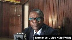 Jacquis Kemleu, secrétaire-général de l'association des raffineurs des oléagineux du Cameroun, le 25 mai 2019. (VOA/Emmanuel Jules Ntap)