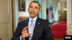 Barack Obama dijo que los estadounidenses viven hoy día en un medio ambiente más saludable.