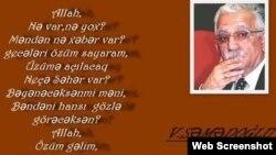 Vaqif Səmədoğlu (Foto Vaqif Səmədoğlunun Facebook səhifəsindən götürülüb)