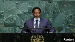 Rais Joseph Kabila wa DRC ahutubia kikao cha 72 cha umoja wa Mataifa mjini New York.