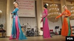 俄羅斯越南加強合作。去年夏季在莫斯科等俄羅斯主要城市舉辦了越南文化節活動。(美國之音白樺攝)