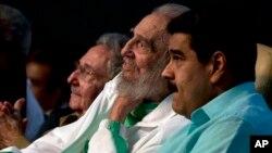 """El jefe del Estado venezolano resaltó que Fidel y Chávez """"construyeron"""" la Alianza Bolivariana para los Pueblos de Nuestra América (ALBA), y """"dejaron abonado el camino de la liberación de nuestros pueblos."""