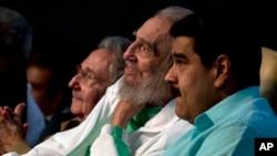 Fidele Castro arikumwe na Perezida Nicolas Madulo wa Venezuela